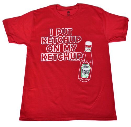 I put Ketchup on my Ketchup red  Adult  Licensed  shirt