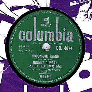 Details about RARE JOHNNY DUNCAN 78 GOODNIGHT IRENE (LEADBELLY)/ IF YOU  LOVE ME BABY DB 4074 E