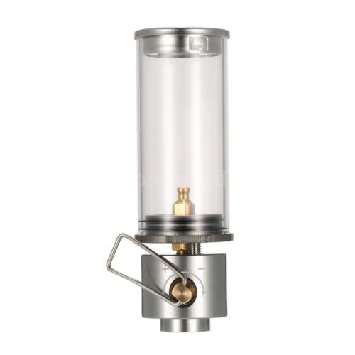 BRS-5S Mini Camping Butane Gas Lantern Candle Tent Lamp with Glass Globe US Z6Y2