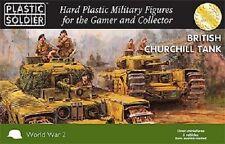 15MM BRITISH CHURCHILL TANK - PLASTIC SOLDIER COMPANY WW2 -