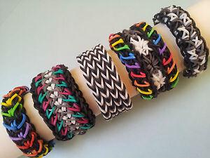 Lot Of 5 Rainbow Loom Bracelets Quadruple Fishtail