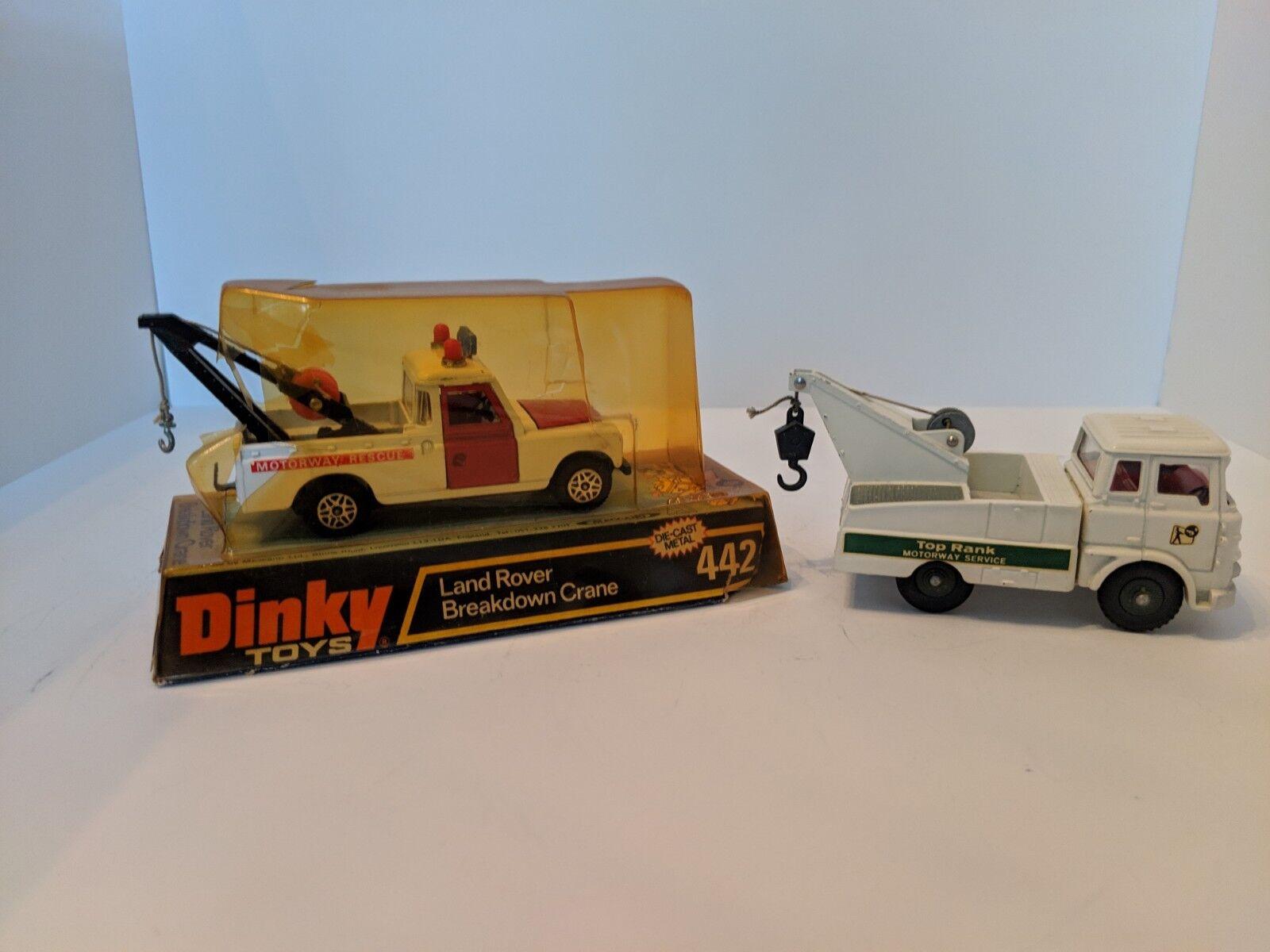 Dinky lot of 2,  434 & 442 Bedford Crash Truck & Land Rover Breakdown Crane