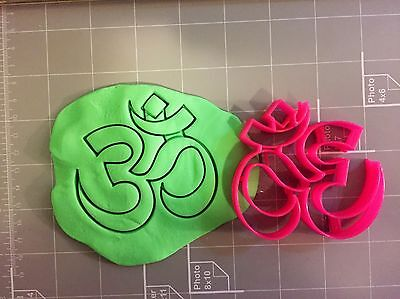 Hindu OM Icon Sound Spiritual Shape Cookie Cutter Dough Biscuit Stamp Sharp
