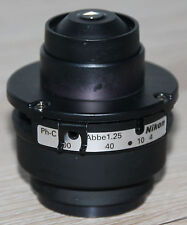 Nikon Mikroskop Microscope Kondensor Ph-C Abbe 1,25 mit Iris