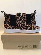Michael KORS Keaton Leopard-Print Calf Hair Booties size-7,5
