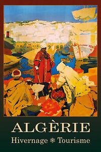 Algerie-Algerie-Argelia-Letrero-de-Metal-Arqueado-Cartel-Lata-20-X-30cm-CC0393
