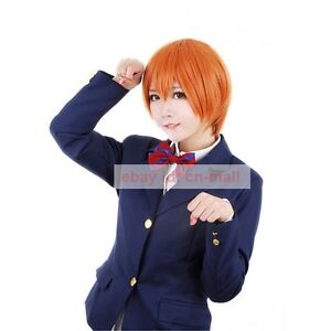 Image is loading Love-Live-Hoshizora-Rin-Orange-Short-Cosplay-Party-