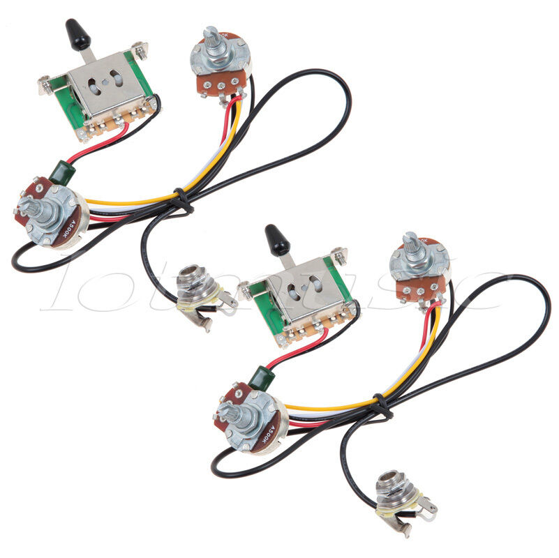 2 sets two pickup guitar wiring harness 3 way blade switch