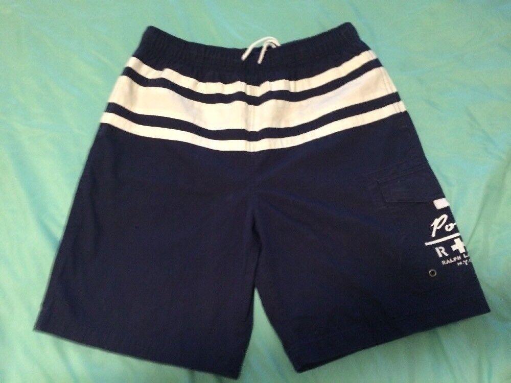 Polo Ralph Lauren Men's Medium Lined Swim Trunks  Board Shorts bluee TS8