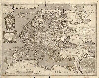 A4 reimpresión de Weltkarte des Idrisi vom Jahr 1154 alemán mapa mundo