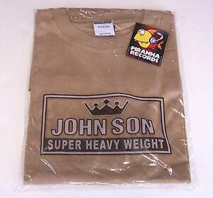 John-Son-Premium-Quality-Tan-T-Shirt-2XL-100-Cotton-Piranha-Records