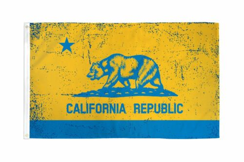 3x5 California Blue and Gold Flag 3/'x5/' Banner Grommets