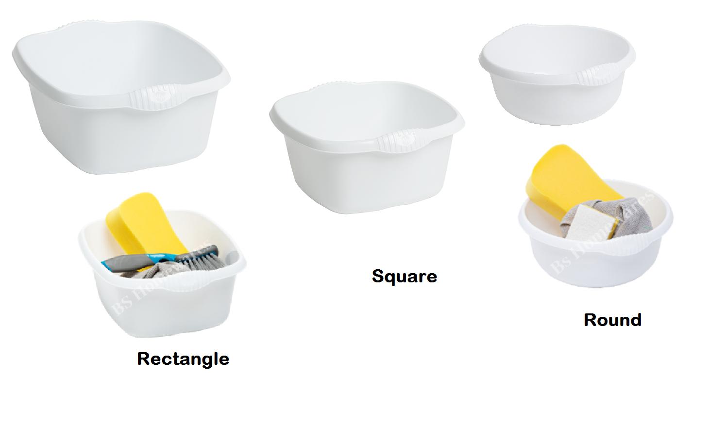 Wham Plastic Round Bowls Kitchen Sink,Basin Mixing,Washing Up Bowl Tidy Organizer Cream//Calico, 28cm Round Bowl
