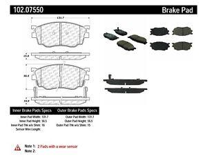 Disc Brake Pad Set-C-TEK Metallic Brake Pads Front,Rear Centric 102.10010