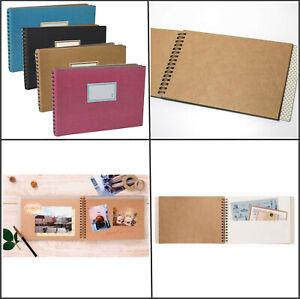 4-Colours-KRAFT-Spiral-Photo-Memory-Scrapbook-Album-Wedding-Guest-Book-Journal