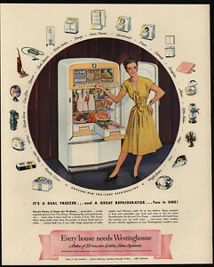 Image Is Loading 1947 WESTINGHOUSE Refrigerator Amp Freezer Appliances Pretty Woman