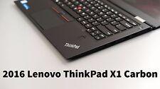 """Lenovo ThinkPad X1 Carbon 4th Gen 14"""" QHD i7-6600U 16GB 512GB SSD WARRANTY 2020"""