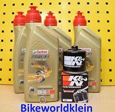 BMW S 1000 RR / R / XR HP4 Öl + K&N Ölfilter Castrol Power1 Racing 5w40 Motoröl