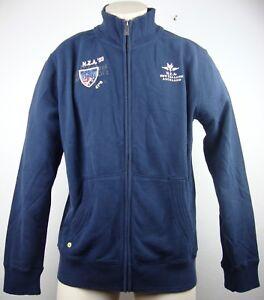 Mit Zealand Neu Navy Jacke Auckland Etikett Gr l Cardigan Sweatjacke New Herren xgw7qv7R