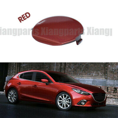 LH white REAR Bumper Tow Hook Cover Cap TOW BRACKET for 2014-2016 MAZDA3