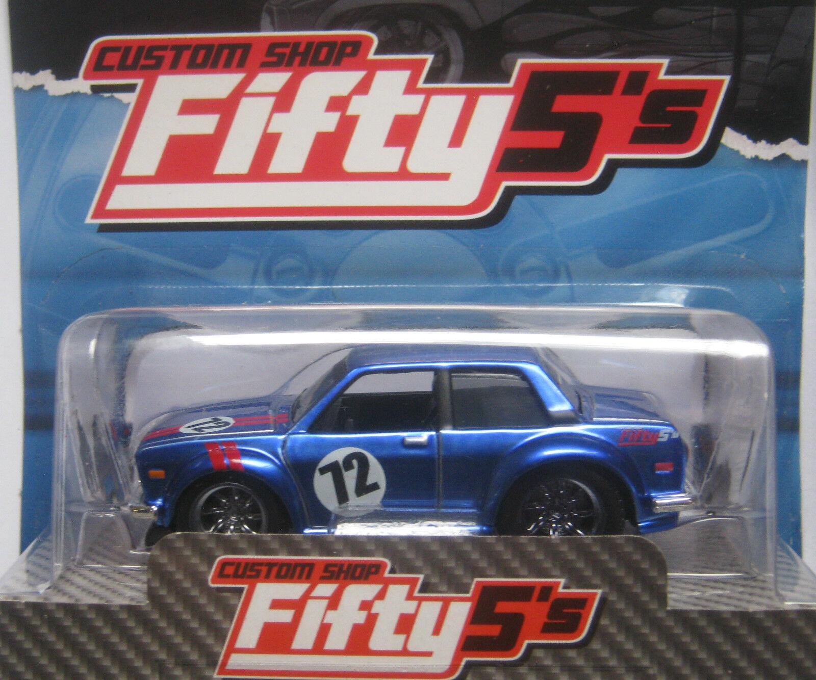 Maisto Datsun 1972 Datsun 510 bluee .... 8.5cm long