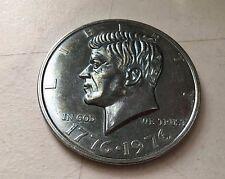 "1776-1976 John F Kennedy JFK Bi-Centennial US  Half Dollar Commemorative 3"" Coin"