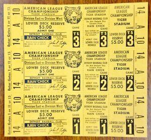 Detroit-Tigers-Vintage-American-League-Championship-Unused-Rare-Error-Tickets
