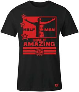 034-Half-Man-Half-Amazing-034-Mens-T-Shirt-to-Match-Habanero-Red-034-Foams-034
