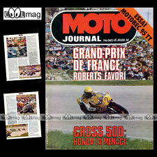 MOTO JOURNAL N°362 GRAHAM NOYCE CROSS MOTOBECANE 95 TT HONDA TL 200 XL 350 1978