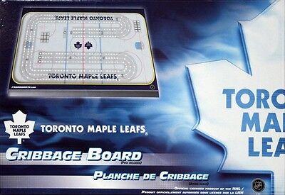 TORONTO MAPLE LEAFS CRIBBAGE GAME ~ RINK SHAPED CRIBBAGE
