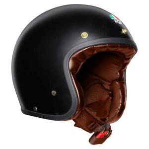 Helmet-Jet-Vintage-agv-X70-Mono-Matt-Black-Gold-Size-XL