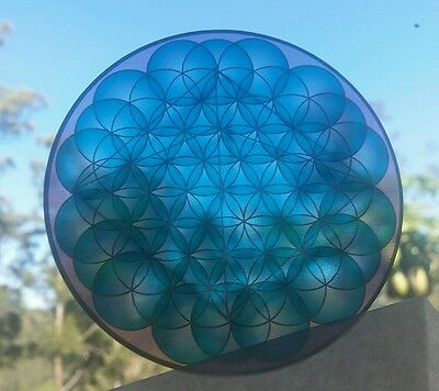Sacred geometry 3D pyramids trippy clear vinyl Sticker 100×100mm australian made