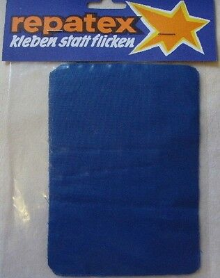 3 Reparatur Flicken Bügelflicken Flickstoff royal blau