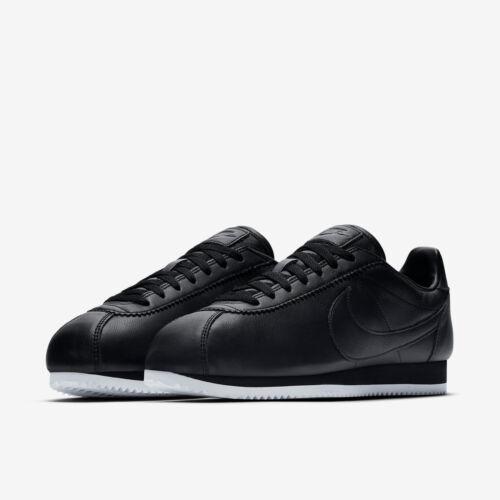 Prm in taglia Scarpe Cortez 9 £ Rrp Nike pelle inutilizzato da 70 e bnib Classic ginnastica nera rnnXzY