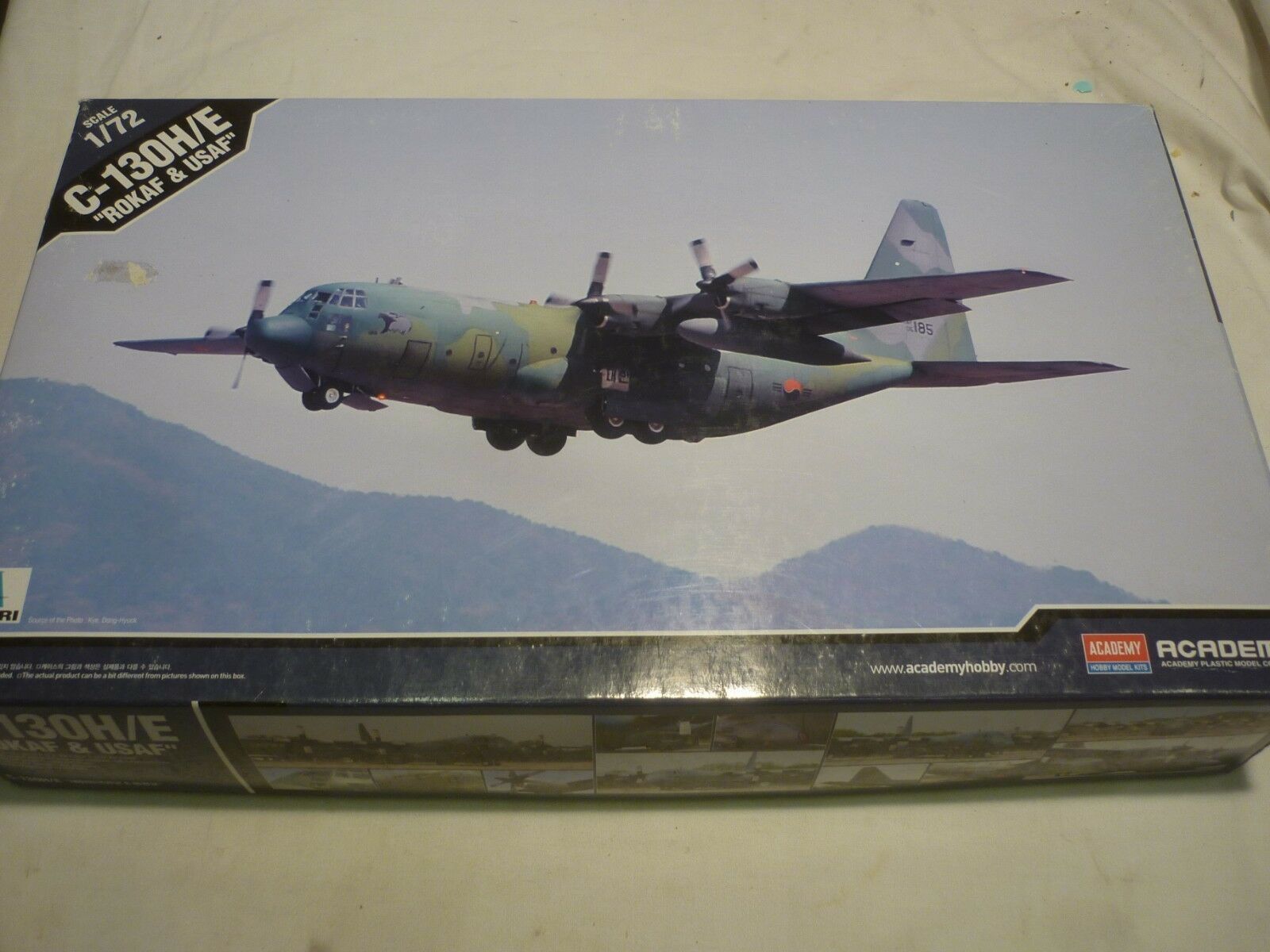 Academy un-opened, un-made plastic kit of a C 130H E ROKAF   USAF. boxed