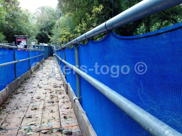 BLUE DEBRIS NETTING 3MX 50M FOR GARDENS SCAFFOLDS ALLOTMENTS WINDBREAK 70GSM