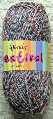 Knitting Wool 100g Festival Chunky Yarn Wendy Wools Tweed Yarn