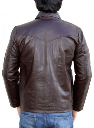 German Wear veste en cuir tendance fashion Lammnappa Véritable Cuir Veste Nappa Cuir Marron
