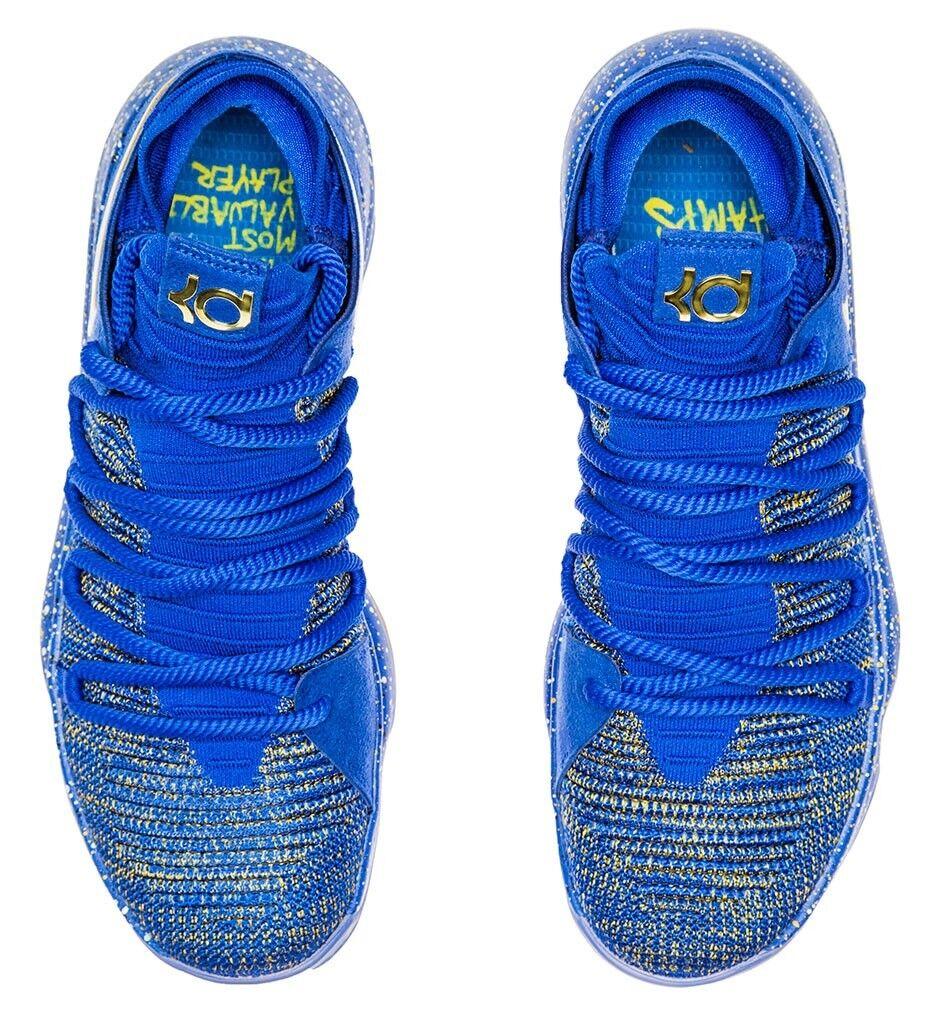 sports shoes 5526d ae6af 2018 Nike Zoom KD 10 Celebration Finals MVP Championship Blue Gold Mens Kd10  8.5 for sale online   eBay