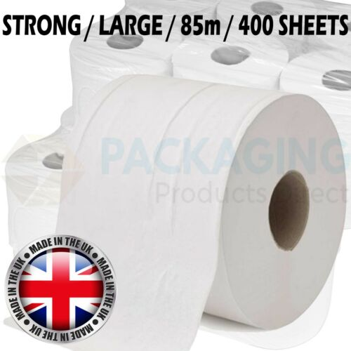 PREMIUM Office Workshop WHITE Hand Towels Rolls 2 Ply Centre feed Rolls Wipes