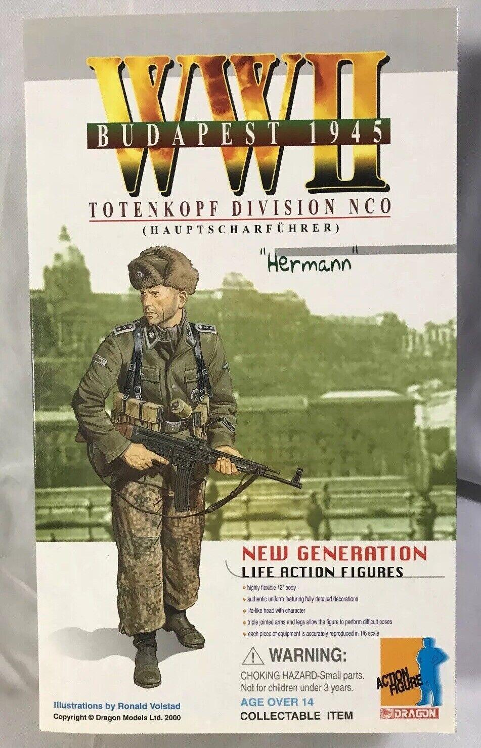 Drache Actionfigur  Zweiter Weltkrieg 1945 Totenkopf Division Nco   Hermann