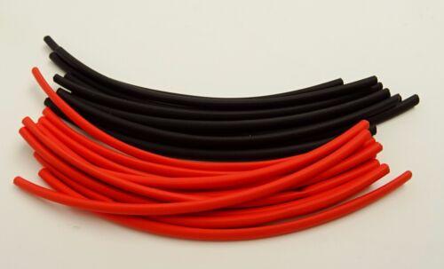 Schrumpfschlauch 2:1 2 Meter schwarz//rot 2,4//1,2mm für dünne Litze oder LED