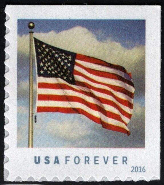2016 47c Patriotic U.S. Flag, Booklet Single Scott 5054