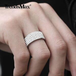 Rhinestone Pave Ring Wedding Band Bling