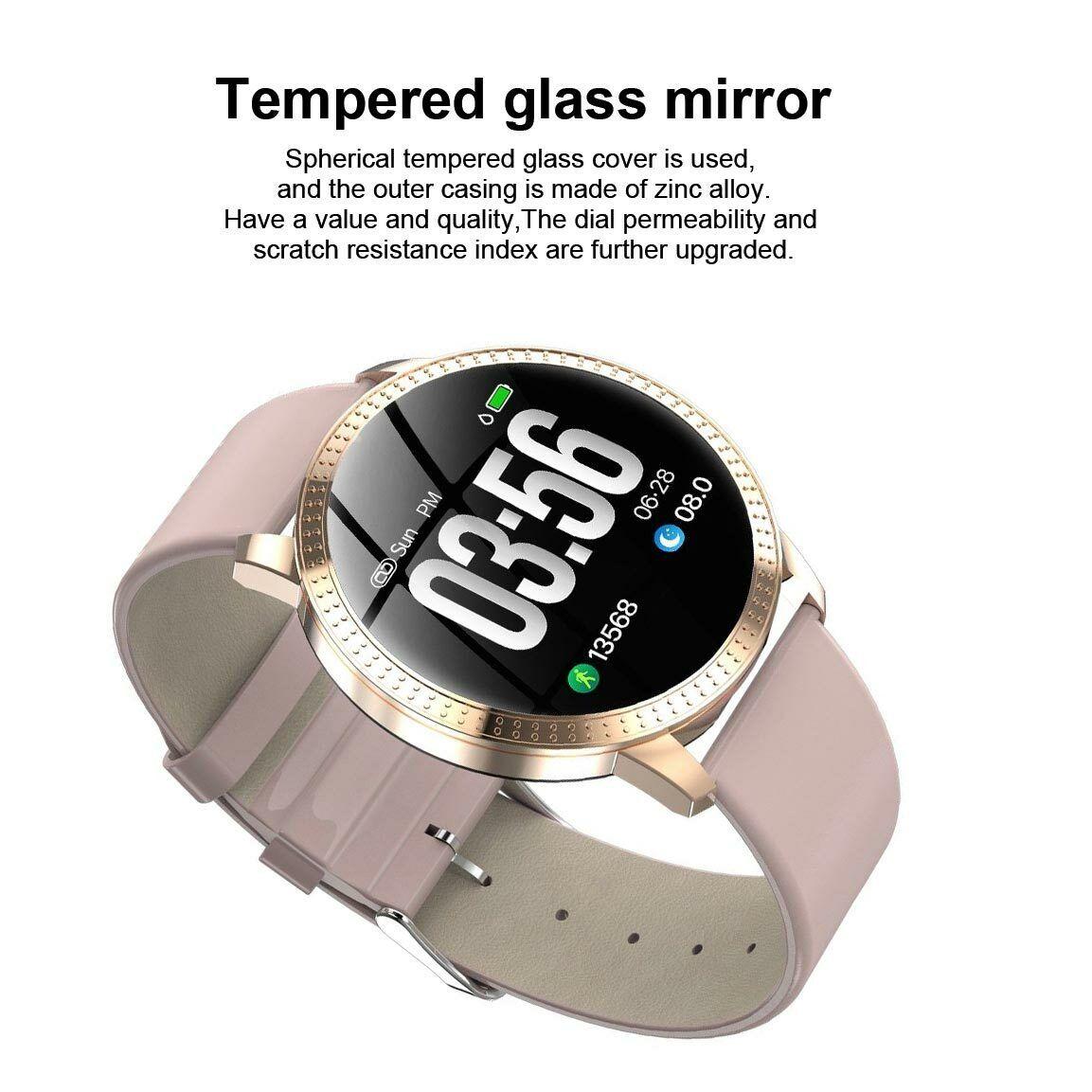 Smart Watch Fitness Tracker Heart Rate Blood Pressure Waterproof Tempered Mirror 4