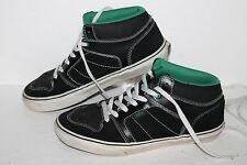 Vans Ellis Mid Casual Sneakers, #TB6Q, Blk/Green/Wht, Leather, Men's US Size 8