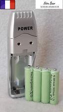 Chargeur de Piles USB Piles AAA(LR03) et Piles AA(LR6) + 4 Piles AAA Offerte !