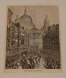1882-Revista-Grabado-Lord-MAYOR-039-S-Dia-en-Londres