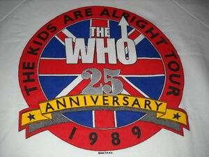 THE-WHO-KIDS-ARE-ALRIGHT-25TH-ANNIV-TOUR-1989-CONCERT-WHITE-SWEATSHIRT-XL-NEW