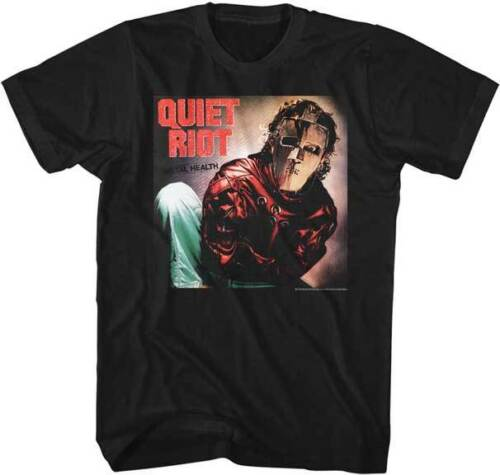 Quiet Riot Mental Health Album Cover Adult T Shirt Rock Music